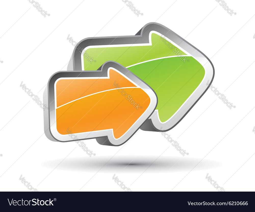3D arrow concept vector image