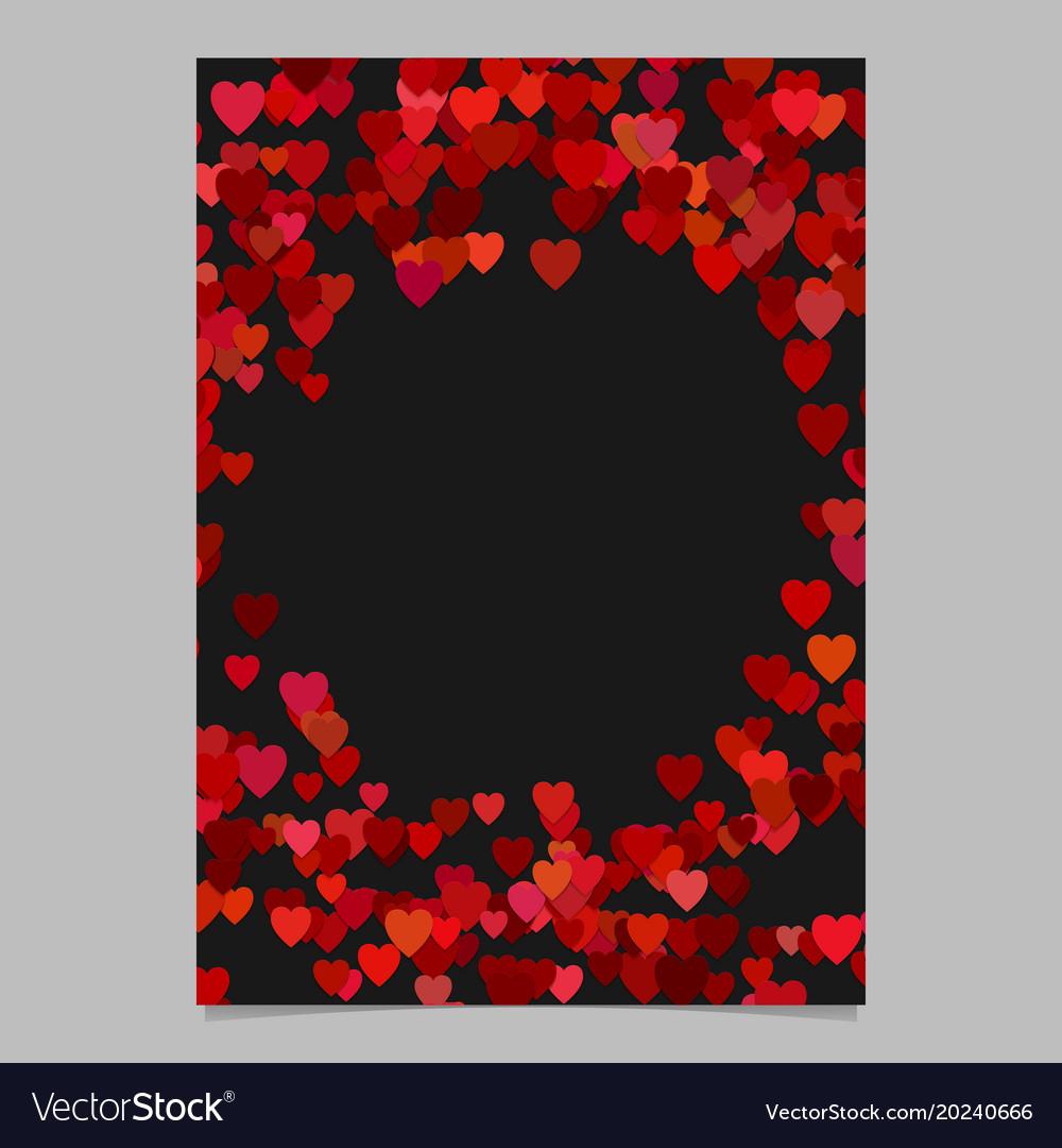 Red random heart page background design - love