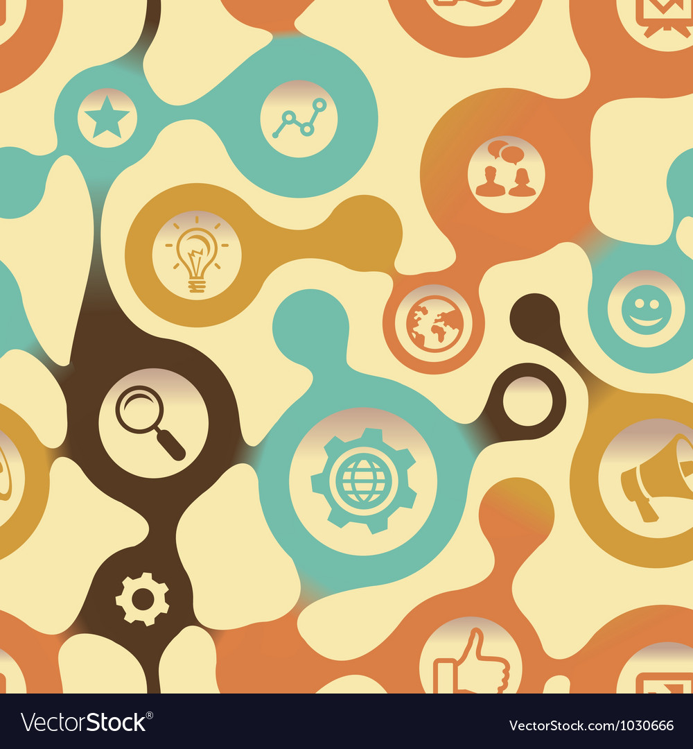 Social media pattern with intenet icons