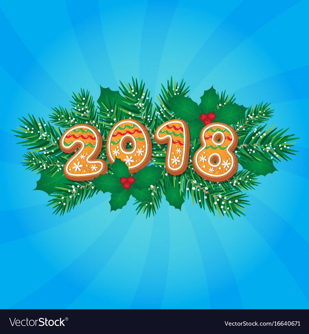 2018 christmas new year greeting card design vector image