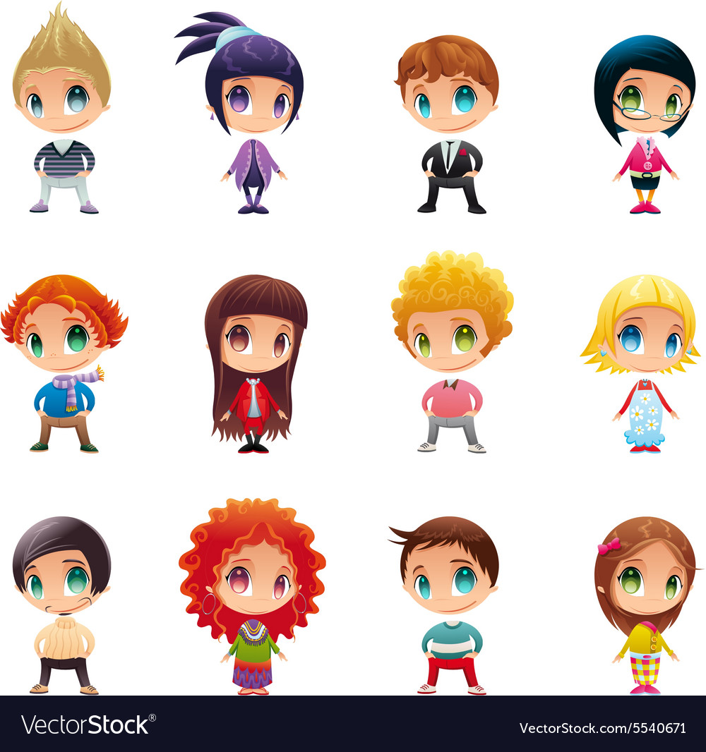 Avatar body boy boyfriend character child Vector Image