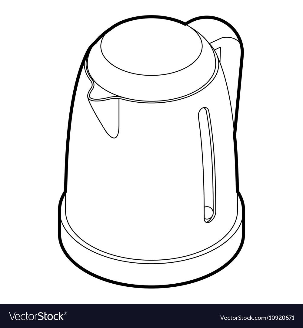 картинка электрический чайник раскраска