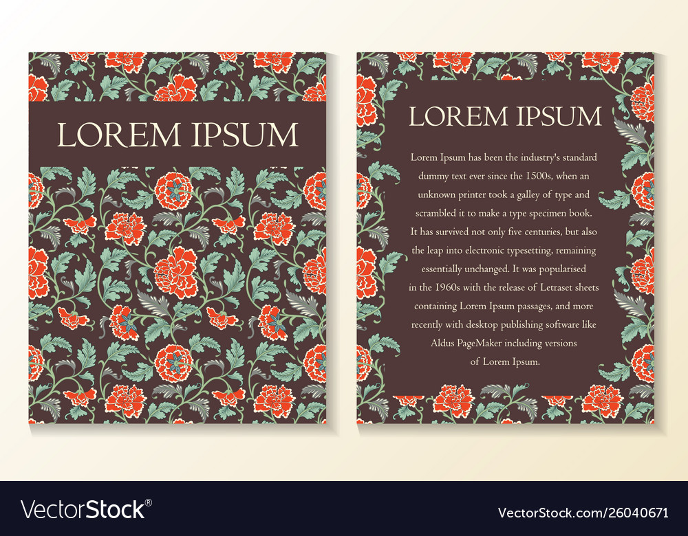 Floral greeting or invitation card