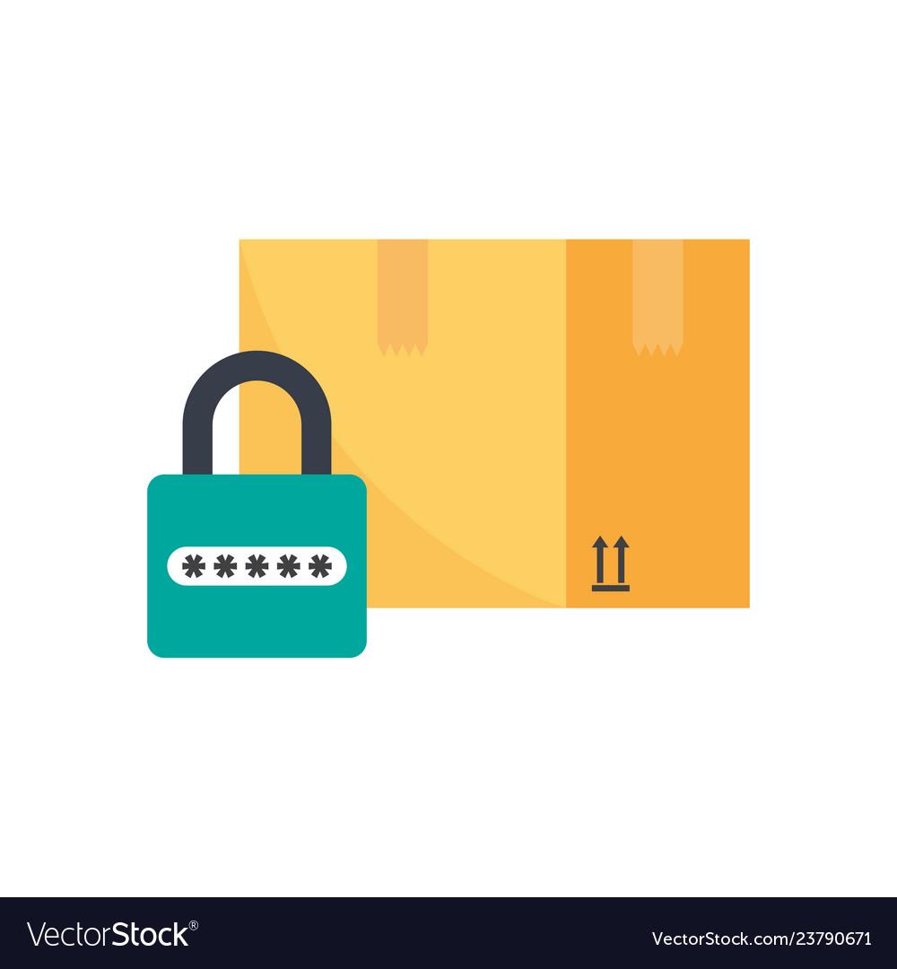 Safe shipping carton box and padlock