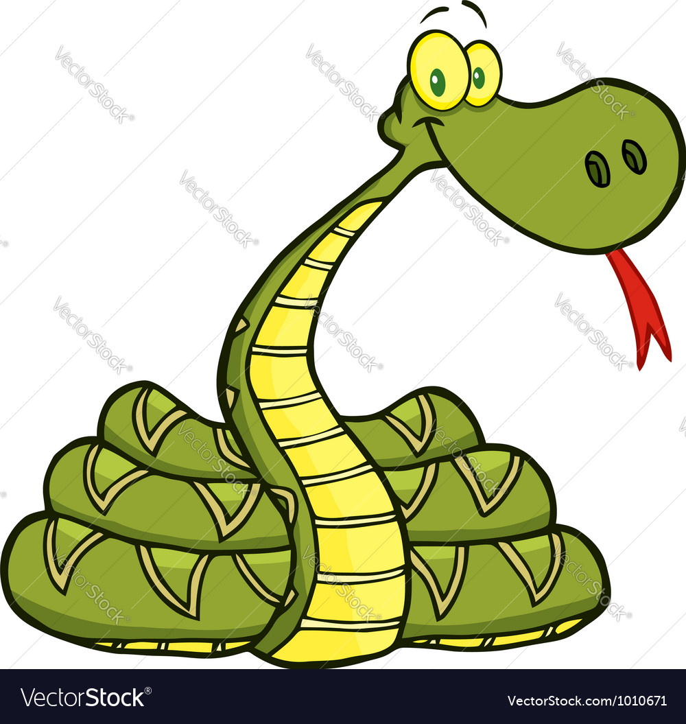 Snake Cartoon Character vector image