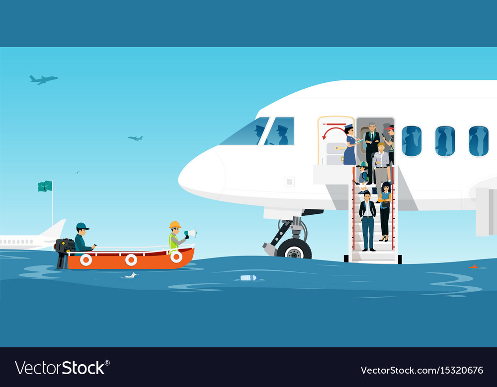 Airport runway flood