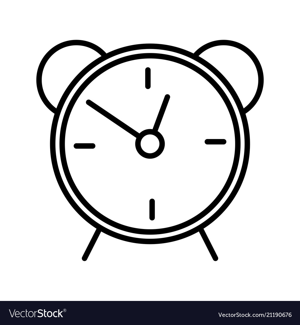 alarm clock line icon isolated on white background Clock Wallpaper alarm clock line icon isolated on white background vector image