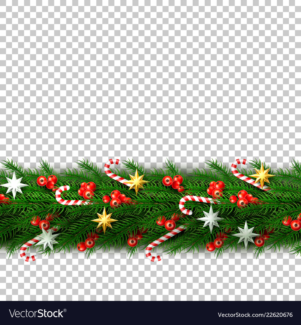 Christmas border with berry star candy