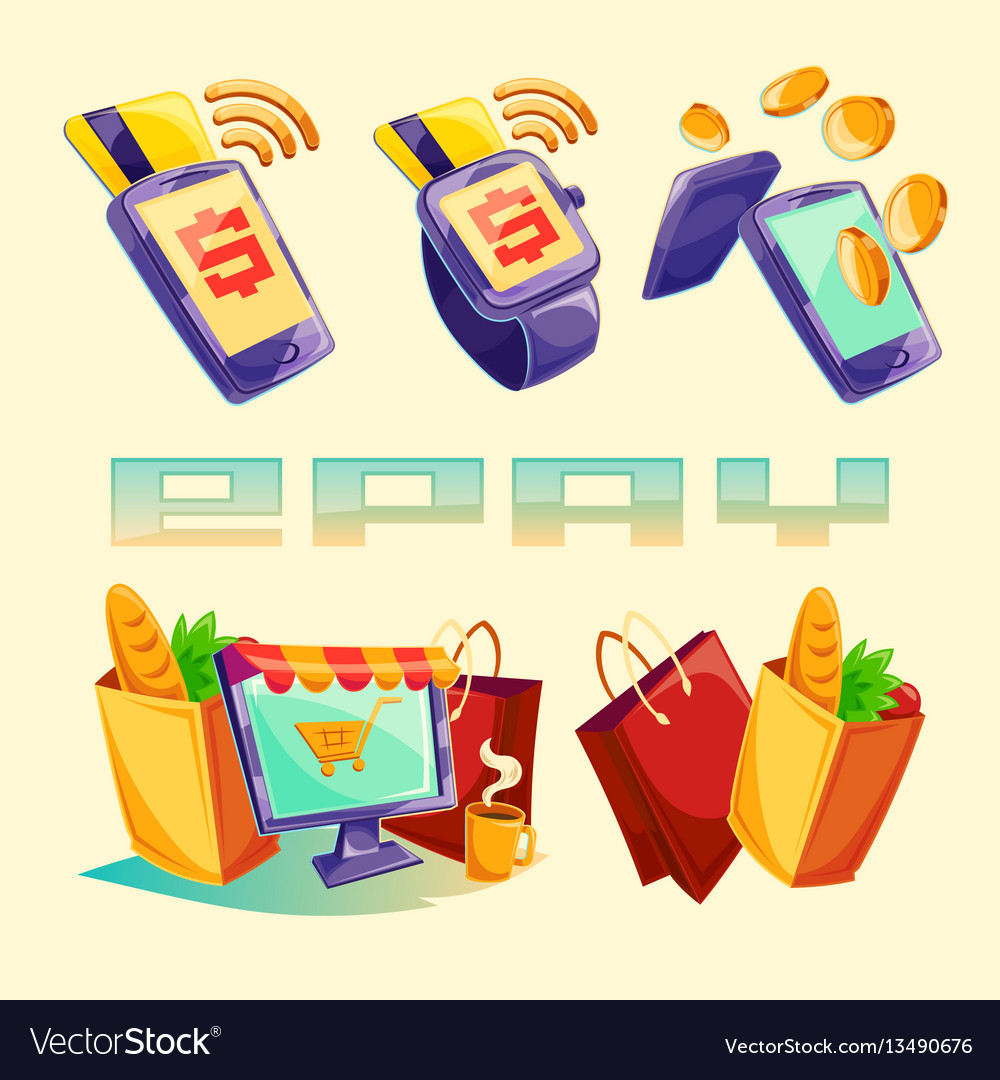 Isometric icons mobile phones laptop vector