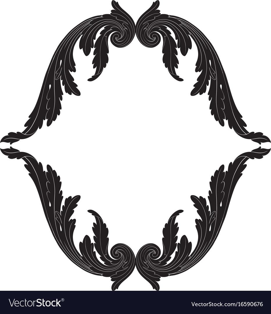 Ornament in baroque style for filigree
