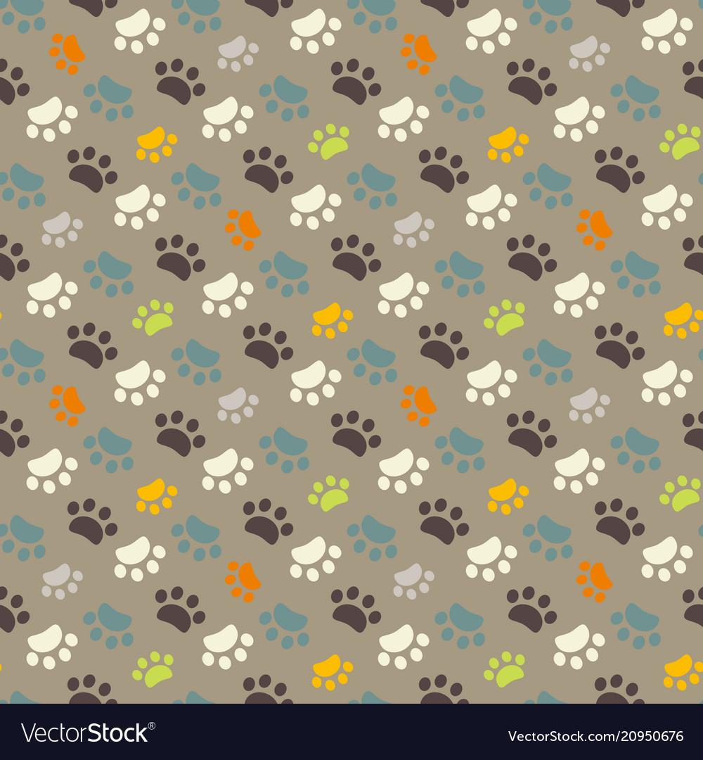 Paw pattern animal imprint