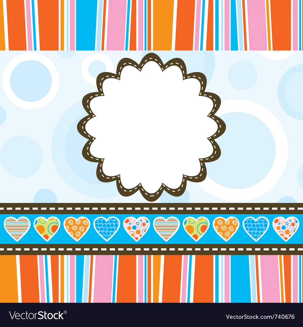 Template heart greeting card