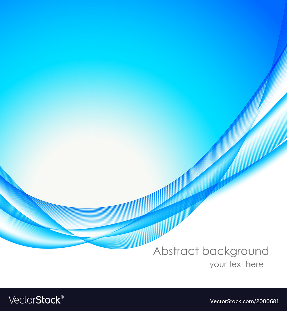 Abstract Wavy Bakground In Blue Color