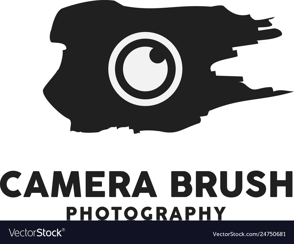 Camera brush logo design inspiration