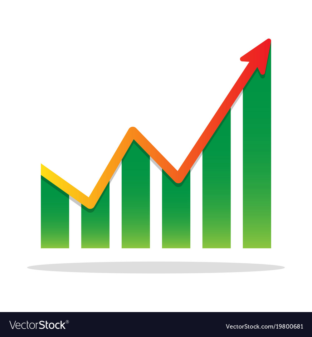 Financial: Financial Growth Infographic Chart Icon Royalty Free Vector