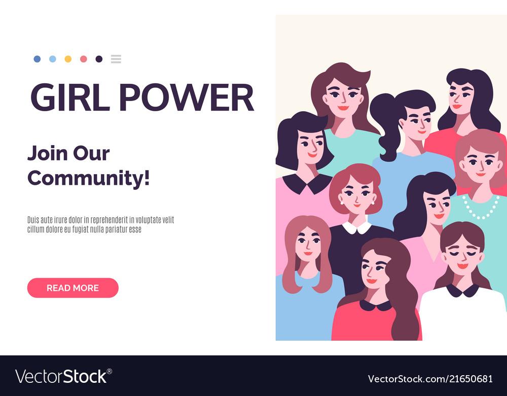 Girl power poster feminism subject