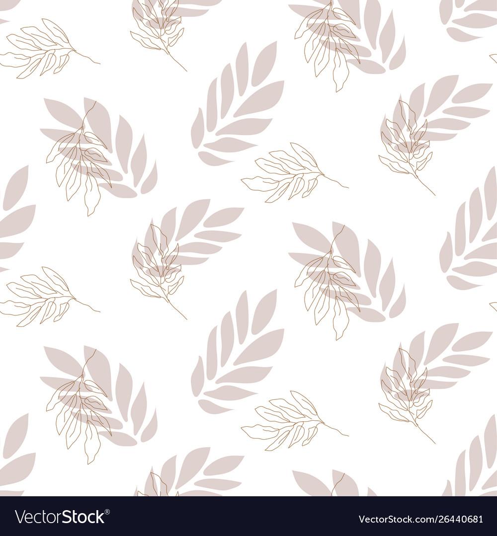 Lavender leaf seamless pattern background