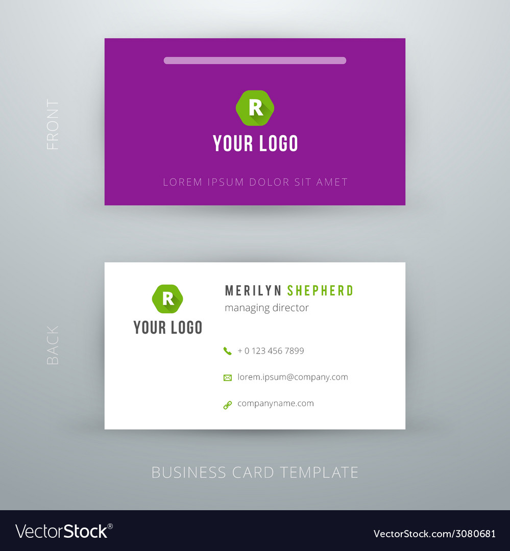 Modern simple business card template royalty free vector modern simple business card template vector image fbccfo Choice Image
