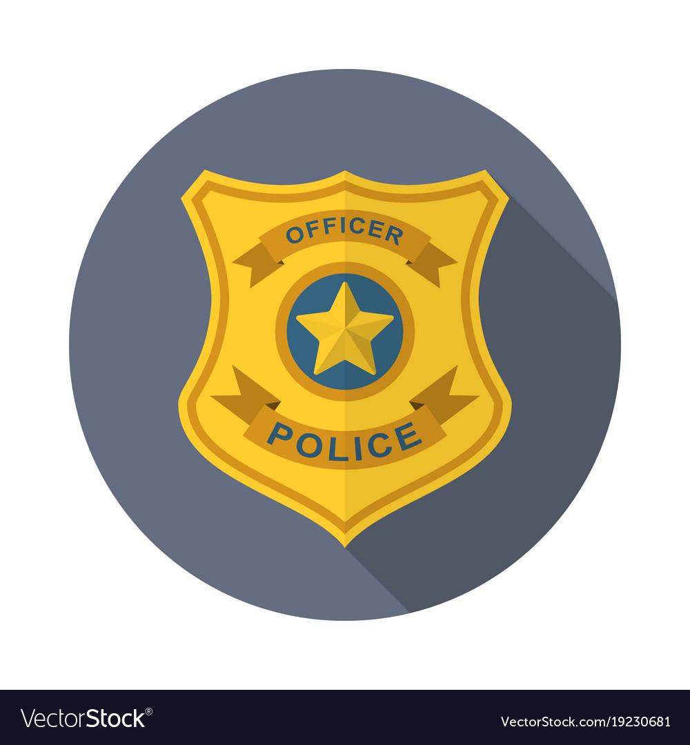 police badge icon royalty free vector image vectorstock