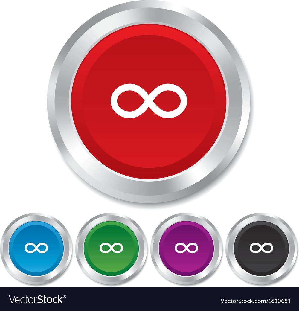 Repeat Icon Loop Symbol Infinity Sign Royalty Free Vector