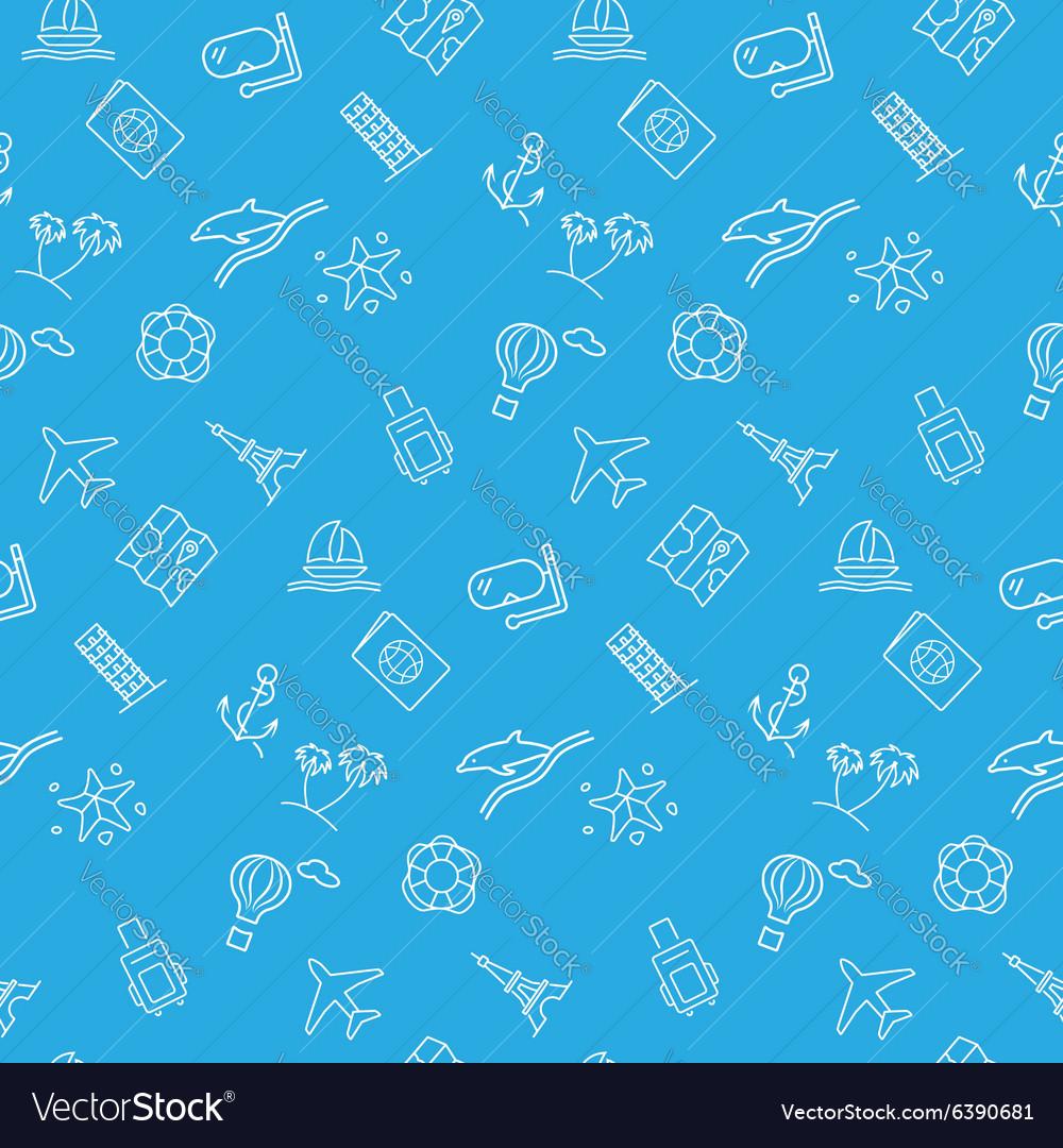 Travel seamless pattern background