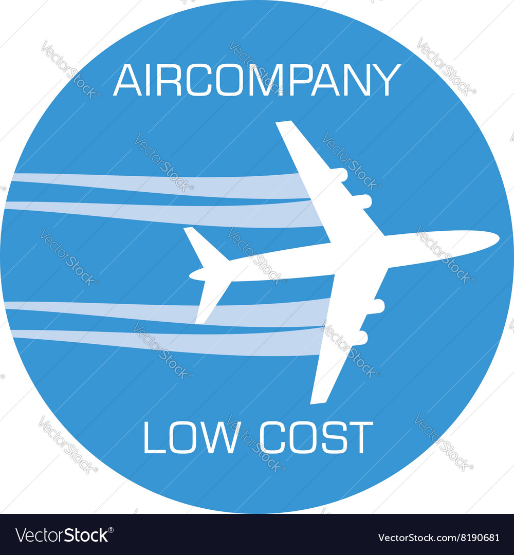 Variant of aircompany logo vector image