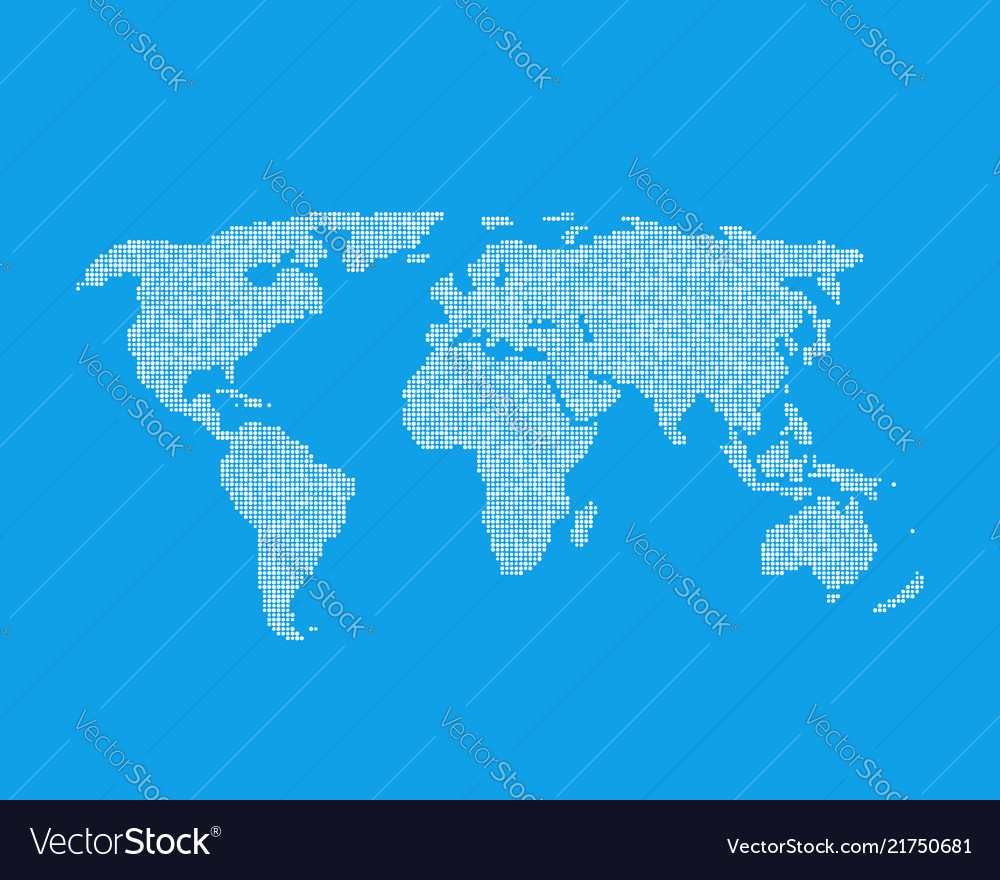 White global world map like infographic element