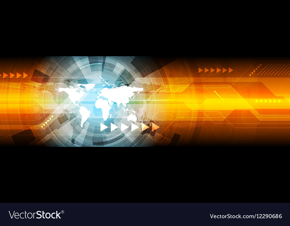 Abstract hi-tech bright web banner design vector image