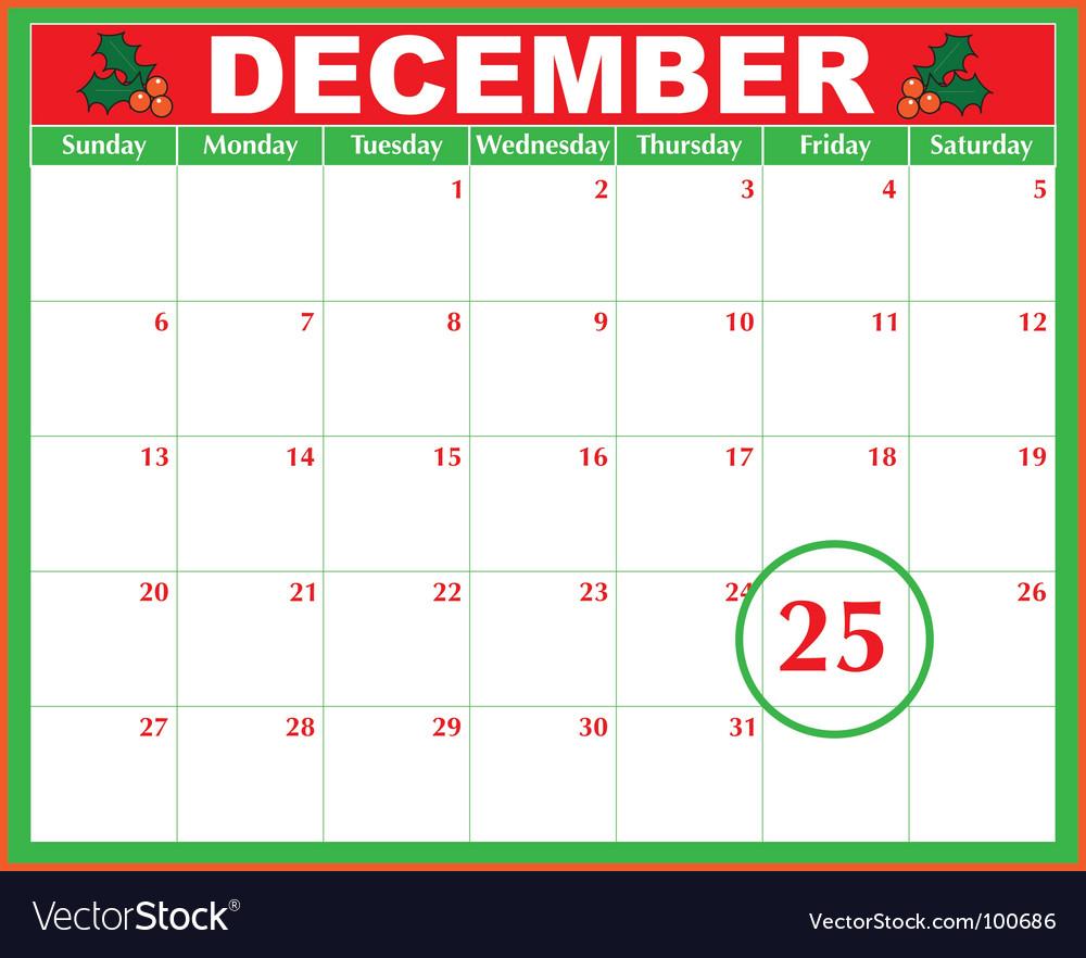 calendar Royalty Free Vector Image