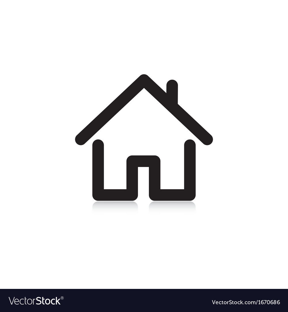House with a pipe vector image