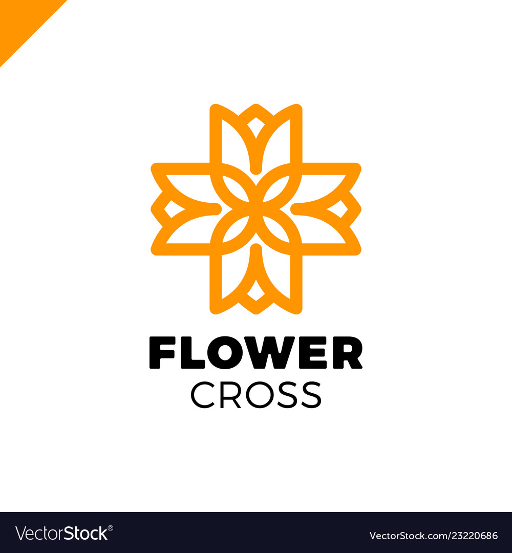 Isolated abstract colorful cross logo medical