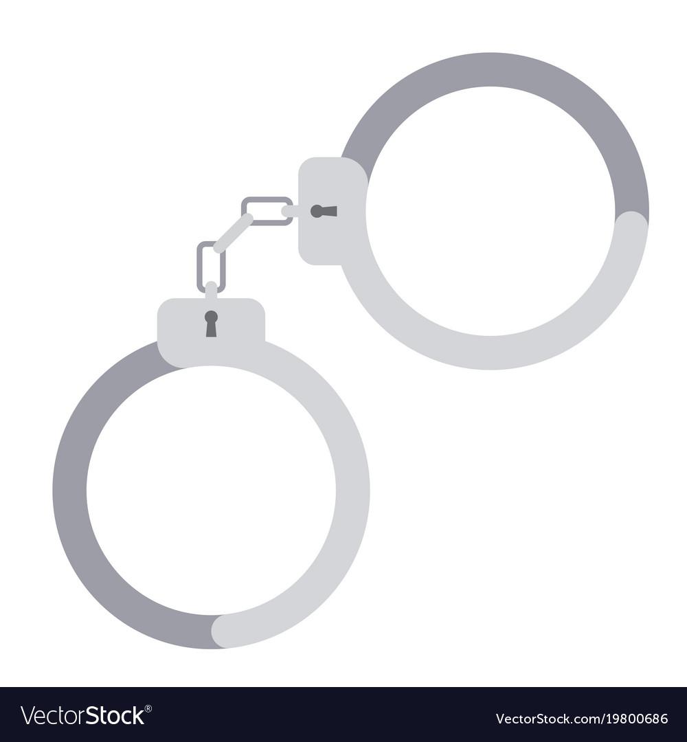 Metal handcuffs for detaining criminals