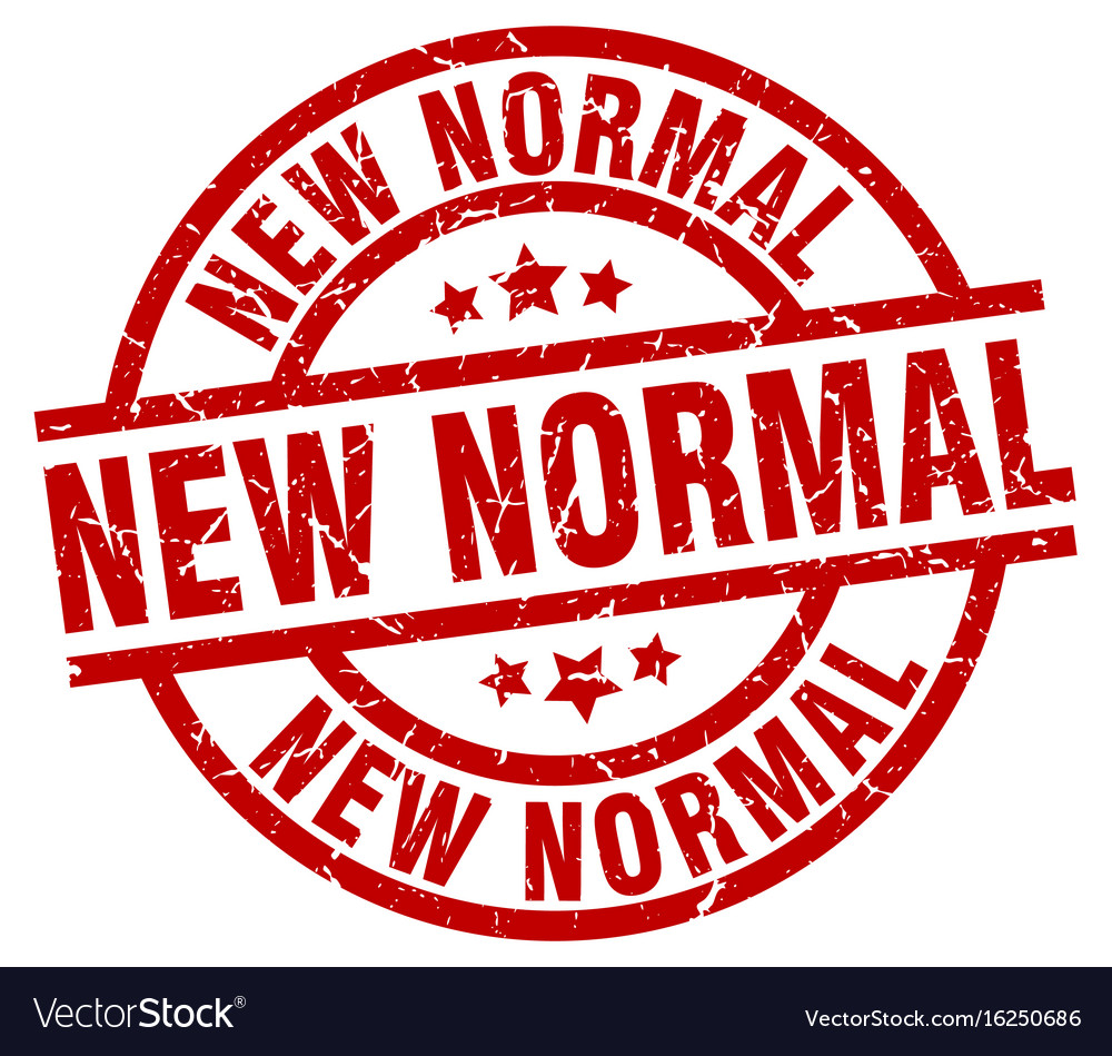 New Normal Round Red Grunge Stamp Royalty Free Vector Image