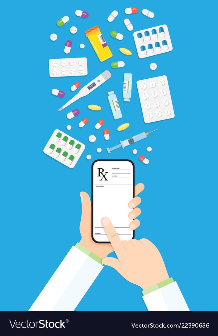 Online pharmacy concept