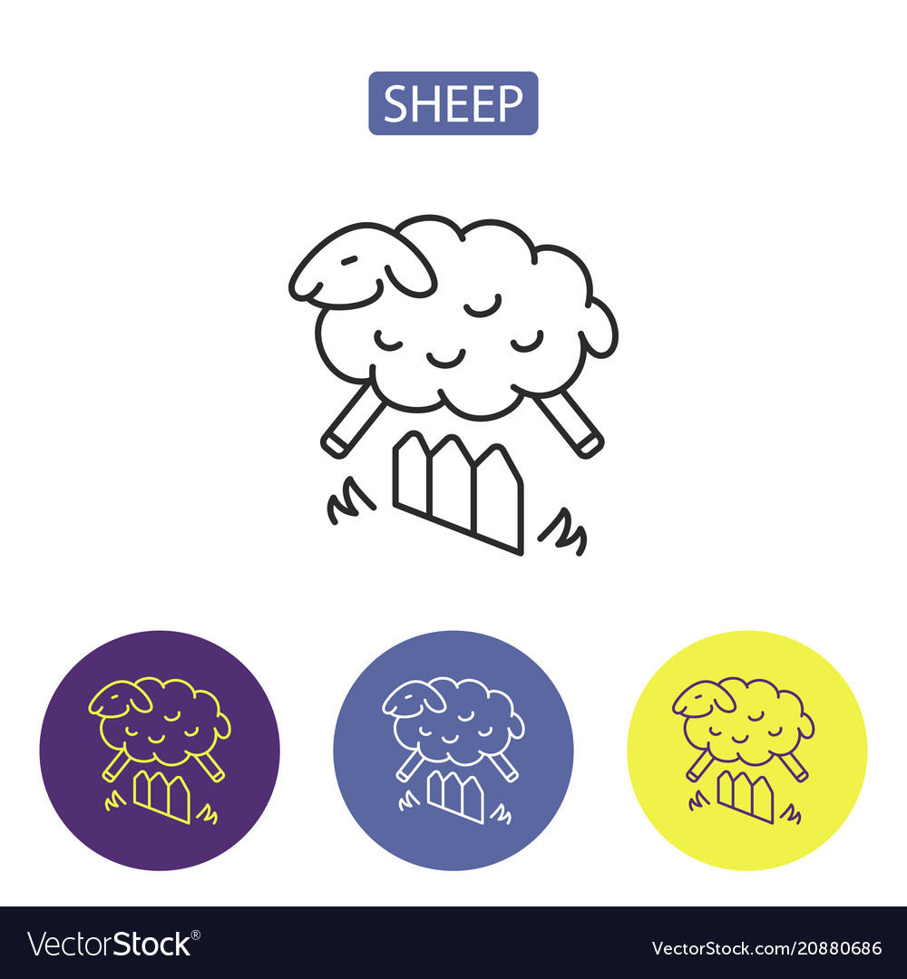 Sheep line icons