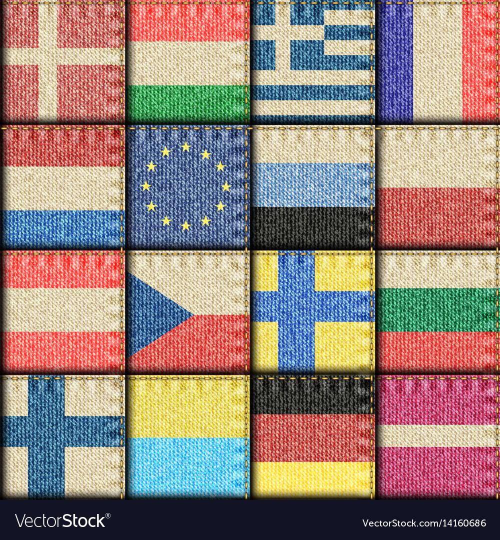 Vintage europe patchwork pattern