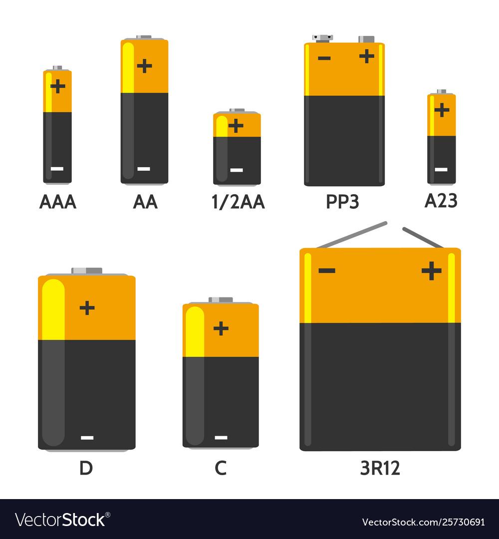 Batterys components set