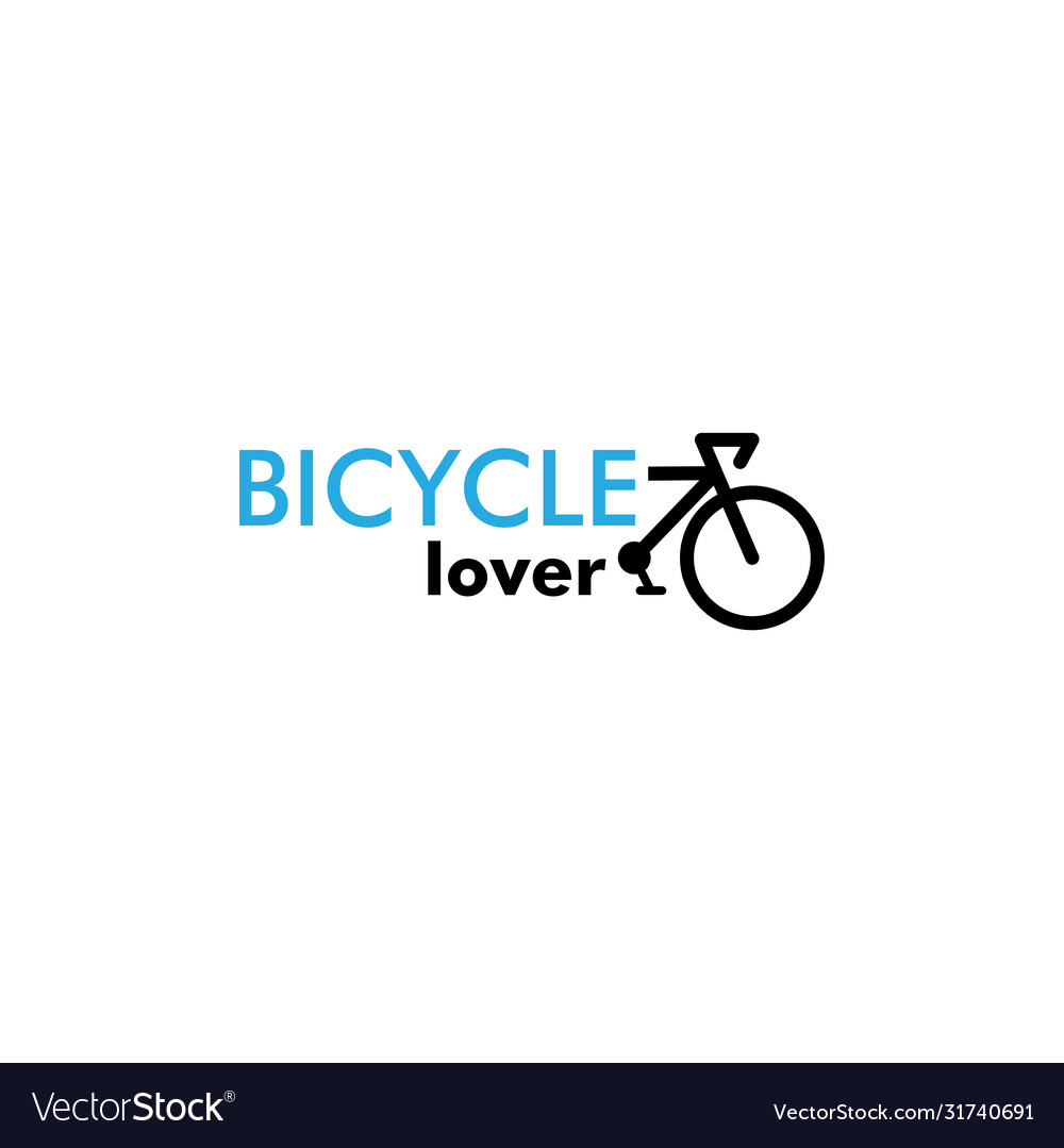 Bicycle lover graphic design template isolated