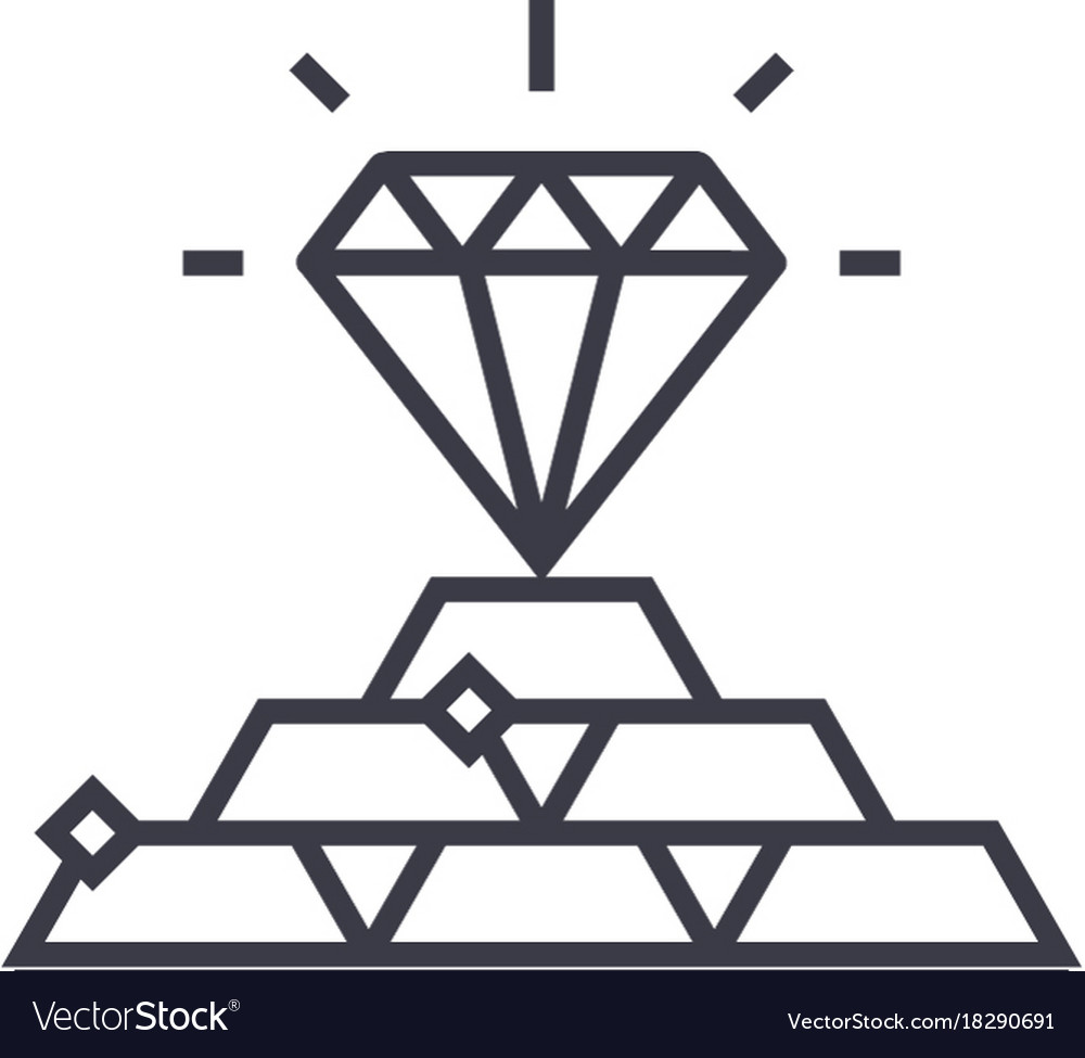 Commodities concept concept thin line icon vector image