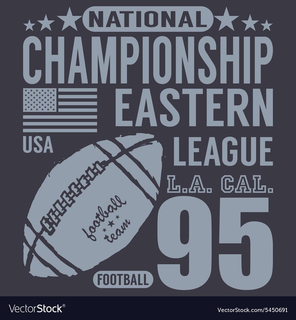 Football sport typography t-shirt Printing design