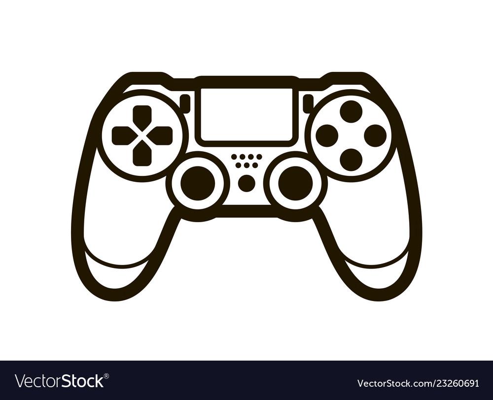 Joystick symbol or icon video game concept