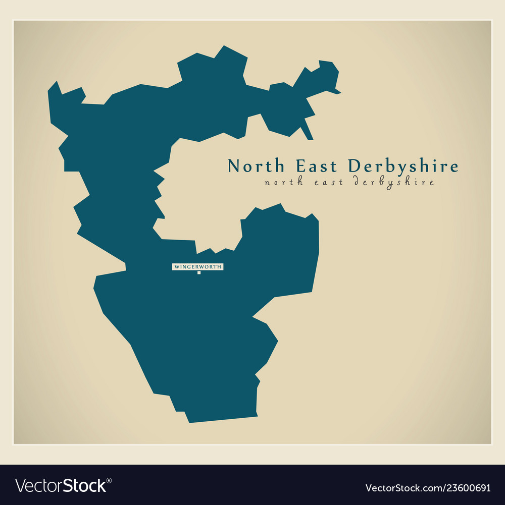 Map Of East Uk.Modern Map North East Derbyshire District Uk