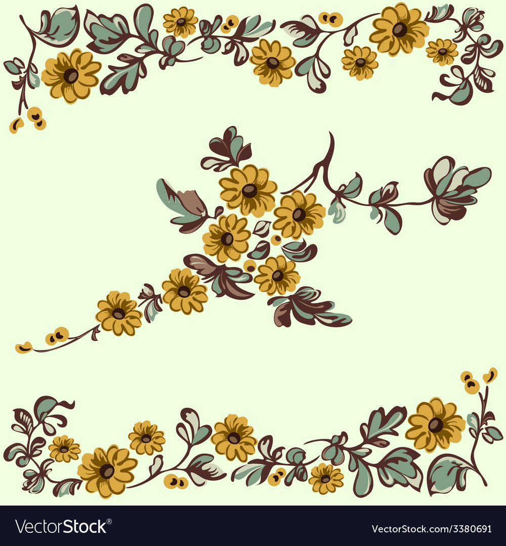 Pattern floral yellow flower
