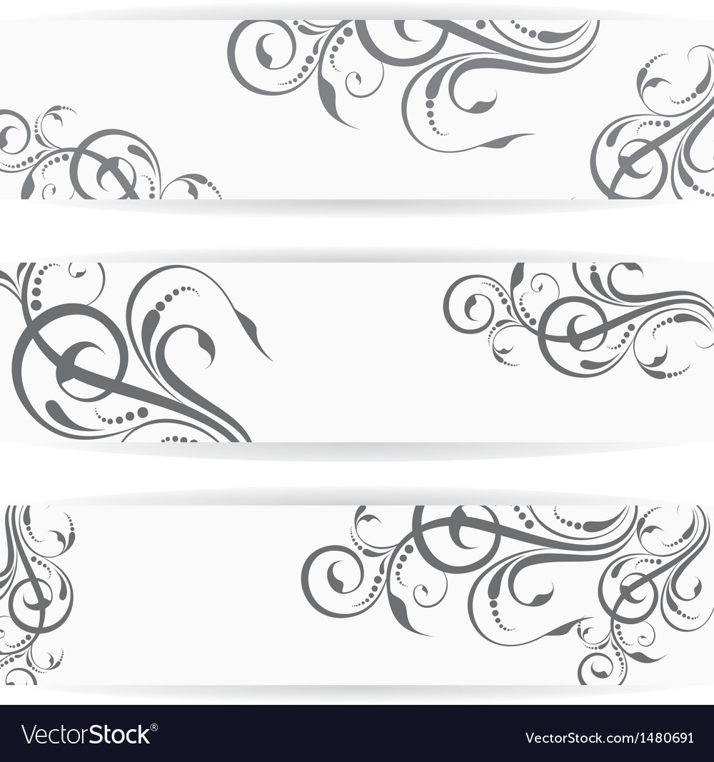 Website header or banner set with beautiful floral