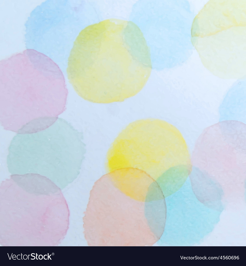 Abstract watercolor circles background