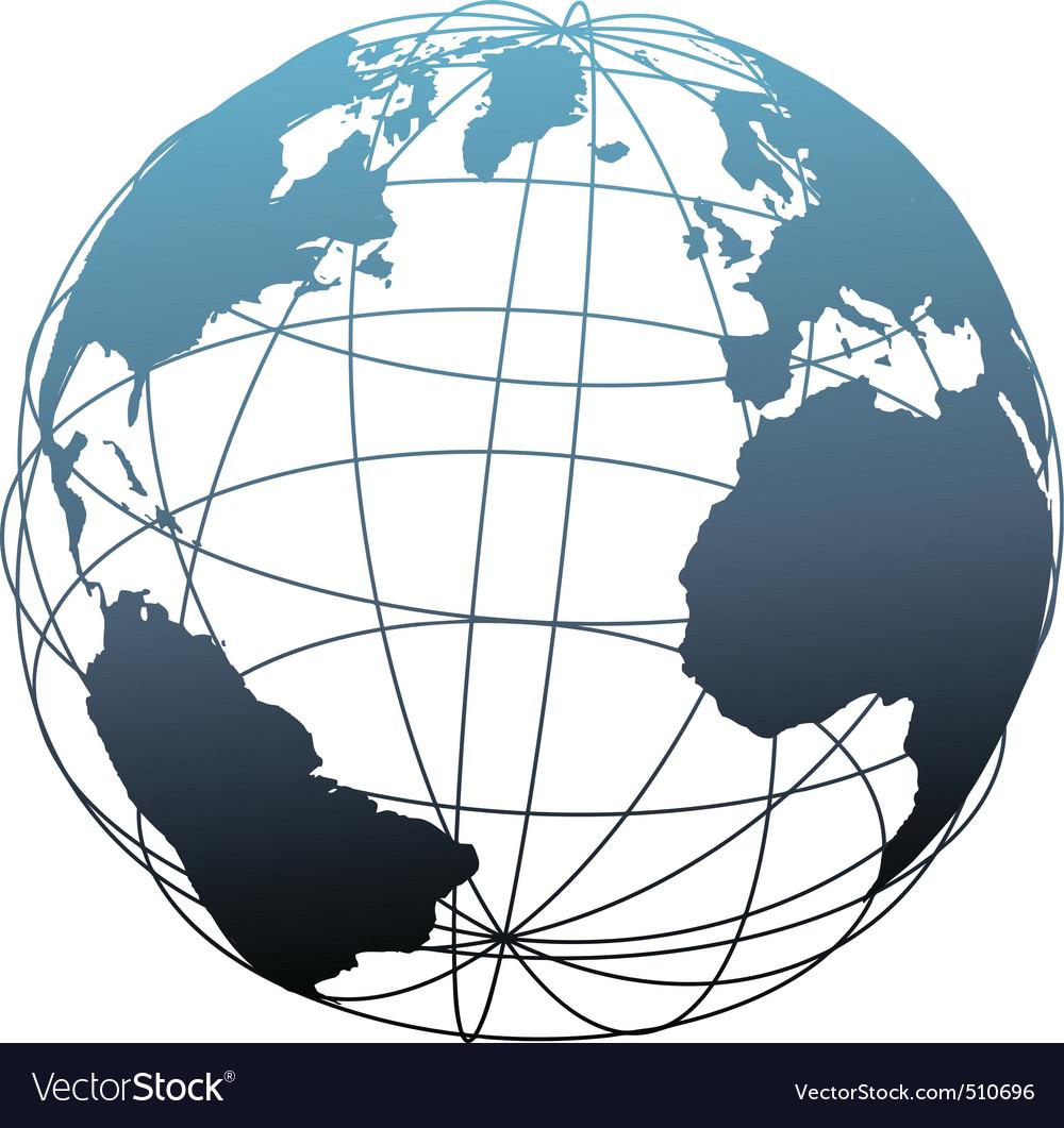 Globe Wireframe Flat Wire Center Circuit Amplifiercircuitsaudio Lilydzc1inductioncookercircuit Global Latitude Atlantic Earth Vector Image Rh Vectorstock Com Soc Clip Art