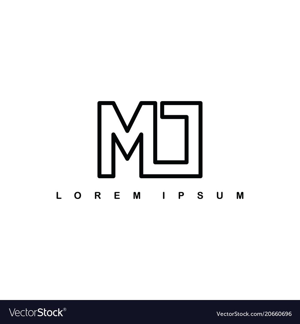M alphabet letter art theme logo logotype vector image thecheapjerseys Images