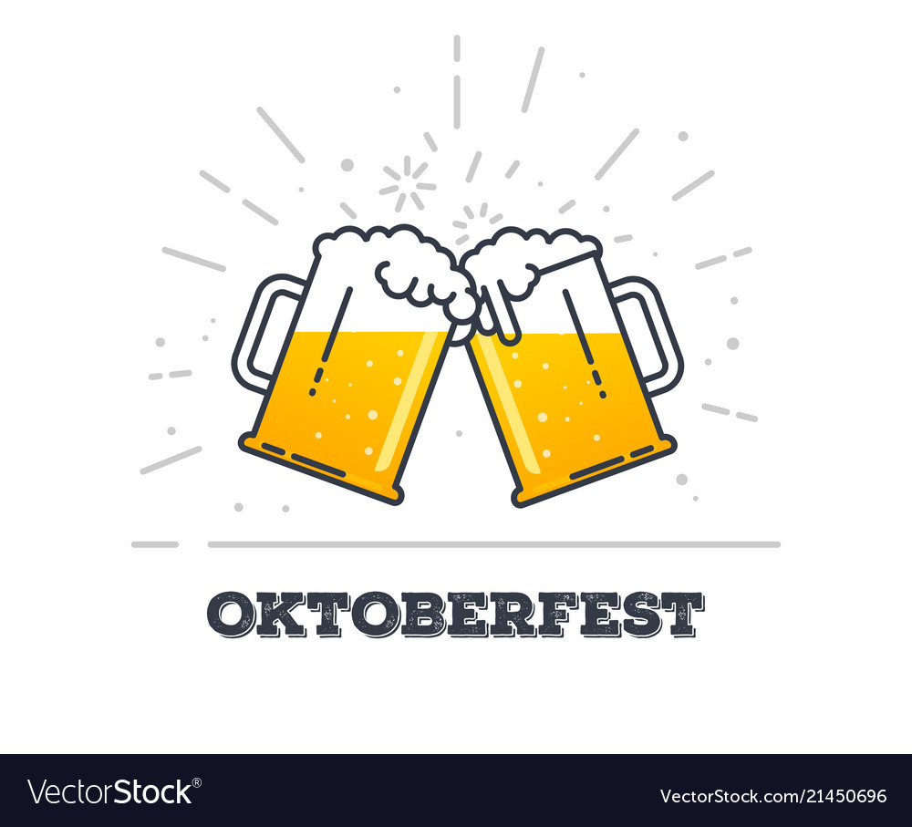 Oktoberfest glasses of beer