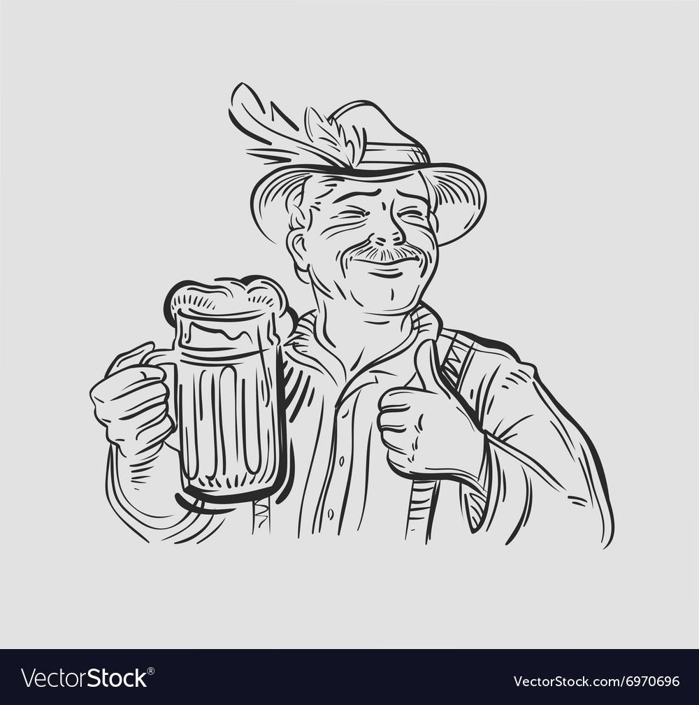 Oktoberfest logo design template Beer ale