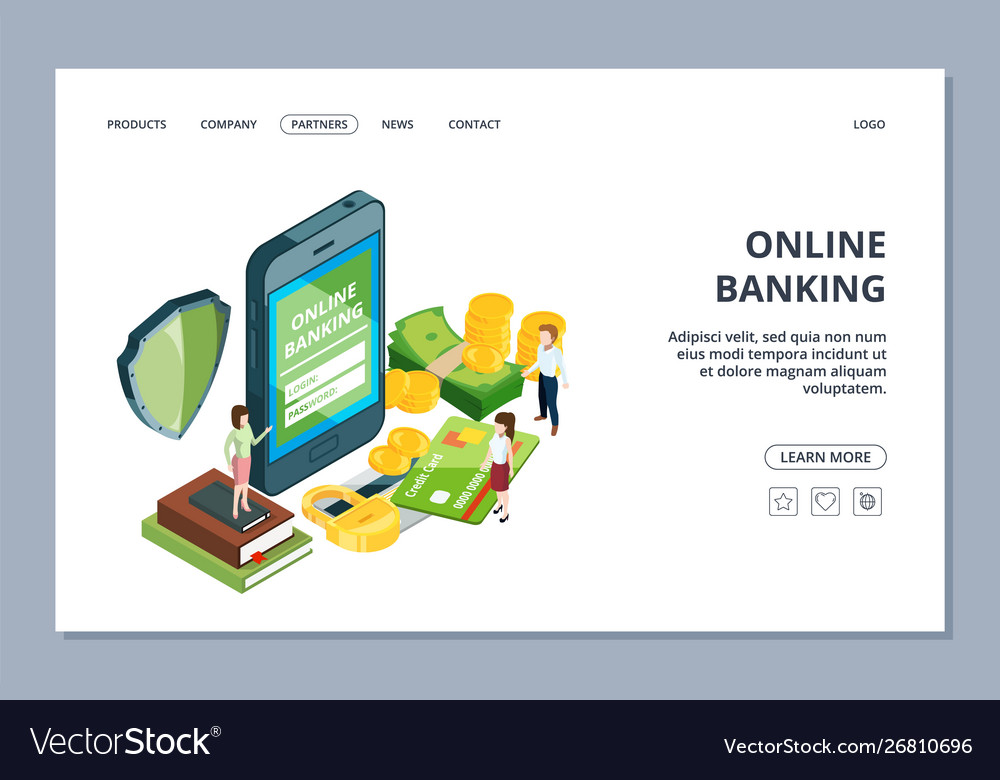 Online banking web page isometric security